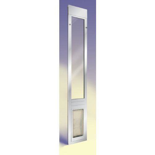 "Patio Pacific - Quick Panel 3 - Extra Large With Endura Flap - 74.75""-77.75"", Satin Frame, Pet Door For Sliding Glass Doors"