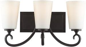 Murray Feiss VS16503-BK Vanity Strip 3 Bulb Black Vanity