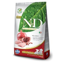 Farmina N&D Grain Free Chicken and Pomegranate Small/Medium Puppy Dry Dog Food 15.4 lb