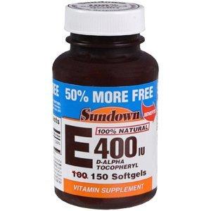 Sun Down Vitamin E 400 D-Alpha Nat Softgel Sftgl 100+50Tablets
