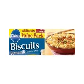 General Mills Pillsbury Unbaked Buttermilk Biscuit Dough, 2.6 Ounce -- 120 per case. by General Mills