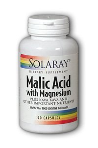 Solaray Malic Acid With Magnesium Supplement, 133 Mg, 90 Count