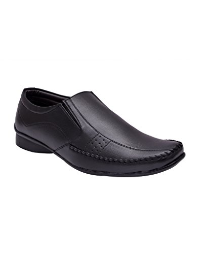 BXXY'S BLACK SLIP-ON FORMAL SHOES FOR MEN