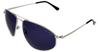 Tom Ford Sunglasses Unisex TF189 16V Silver Aviator