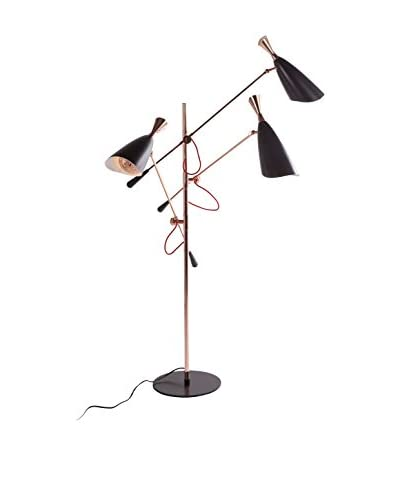 Control Brand Canute 3-Light Floor Lamp, Black/Rose Gold