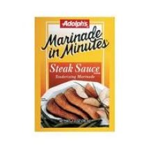 Adolph's Marinade in Minutes Steak Sauce 1 OZ (Pack of 24) from Adolphs