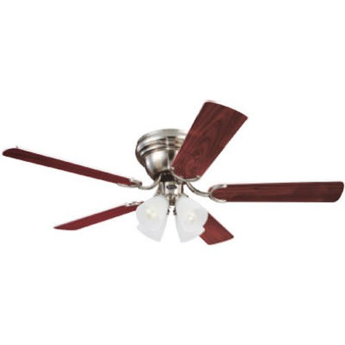 Westinghouse 7861600 Contempra IV Four-Light 52-Inch Five-Blade Ceiling Fan, Brushed Nickel with Frosted Ribbed Globes (Light Globe For Ceiling Fan compare prices)