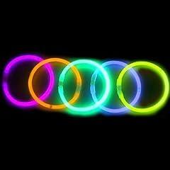"8"" LumiStick Brand Glowsticks Glow Stick Bracelets Mixed Colors (Tube of 100)"