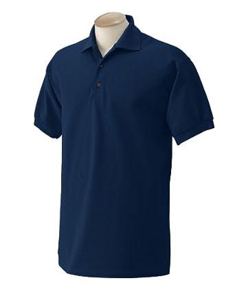 Buy Gildan Ultra Cotton - Ringspun Pique Polo Sport Shirt. 3800 - Large - Navy by Gildan