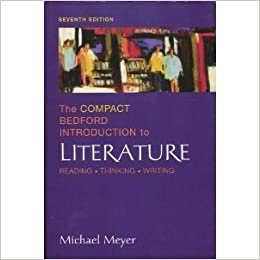 Thinking and Writing about Literature by Michael Meyer (1995, Paperback)