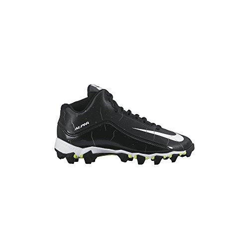 Boy's Nike Alpha Shark 2 3/4 Wide Football Cleat Black/Anthr
