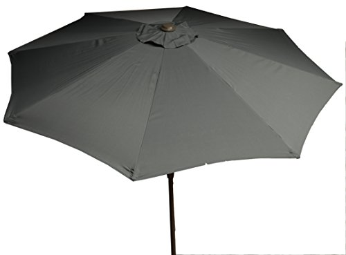 beo Sonnenschirme wasserabweisend ohne Standfuß Sonnenschutz, rund, Durchmesser 270 cm, grau