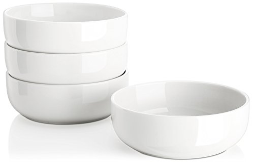 Lifver 22oz/6 inch Porcelain Soup/Salad/Cereal Bowls Set, Round & White, Set of 4 (Small Oven Safe Bowl compare prices)