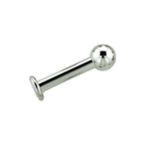 Stainless Steel Flat Back Labret: 14g, 3/8