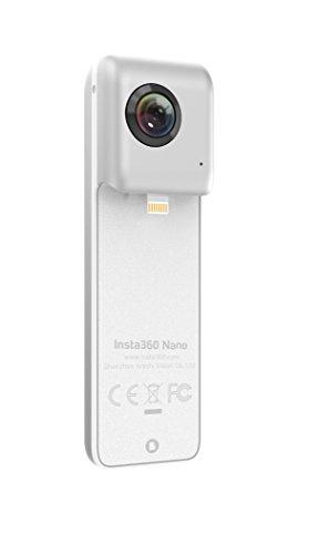Insta360 Nano 3K 360° Dual Lens Camera for iPhone (Pearl White)