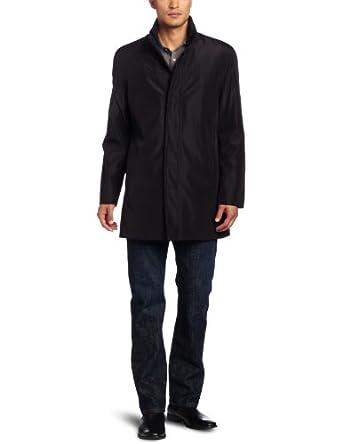 (17折)Kenneth Cole肯尼斯柯尔 男士休闲商务风衣Bonded Poly Car   $38.74