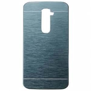 Luxury Brushed Aluminium Metal PC Hard Back Cover Case For LG G2-Royal Blue