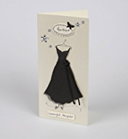 Glamorous Black Dress Daughter Birthday Card