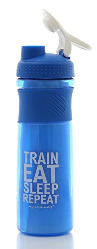 My 60 Minutes MM-S3-A41 Gym Shaker Bottle, 1000 Ml (Blue)