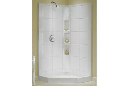 Great Price Sterling 72044100 0 Intrigue Shower Wall Set Only Neo Angle Corne