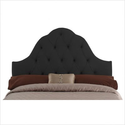 Tufted High Arch Headboard in Black Size: Full/Queen