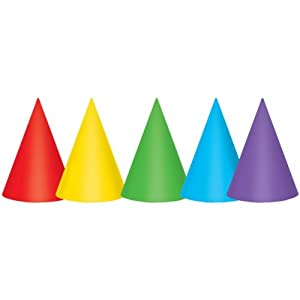 "Party Hats 7"" Prime Colors 12/Pk by Amscan"