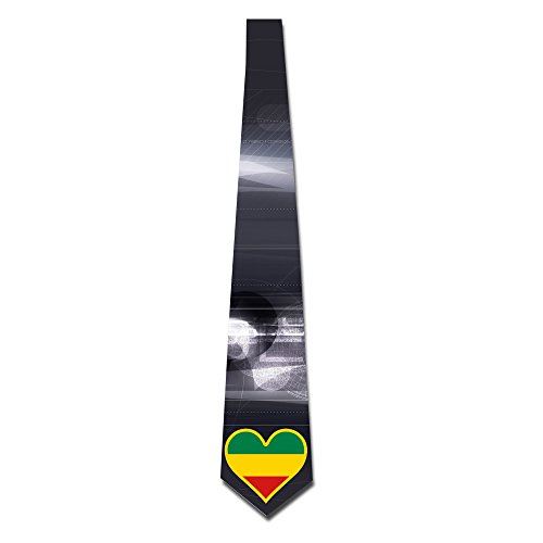 HANDSOMEFEEL Flag Heart Neck Suits Tie Skinny Tie