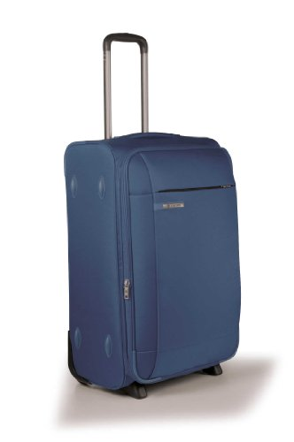 Carlton Titanium Expandable Cabin Trolley Case 55cm in Navy Blue