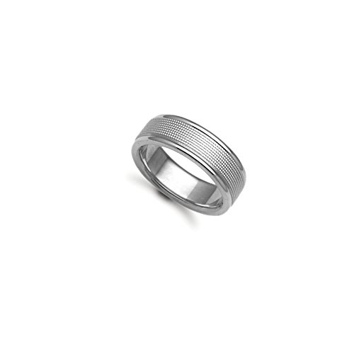 4mm - 9ct White Gold Fancy Wedding Band Ring