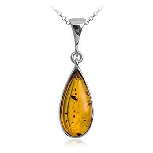 noda-ambra-argento-sterlina-goccia-ciondolo-catena-46-cm