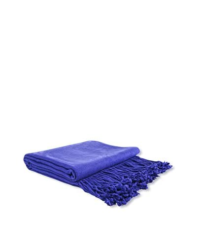 PÜR Cashmere Rayon From Bamboo Velvet Throw, Morning Glory