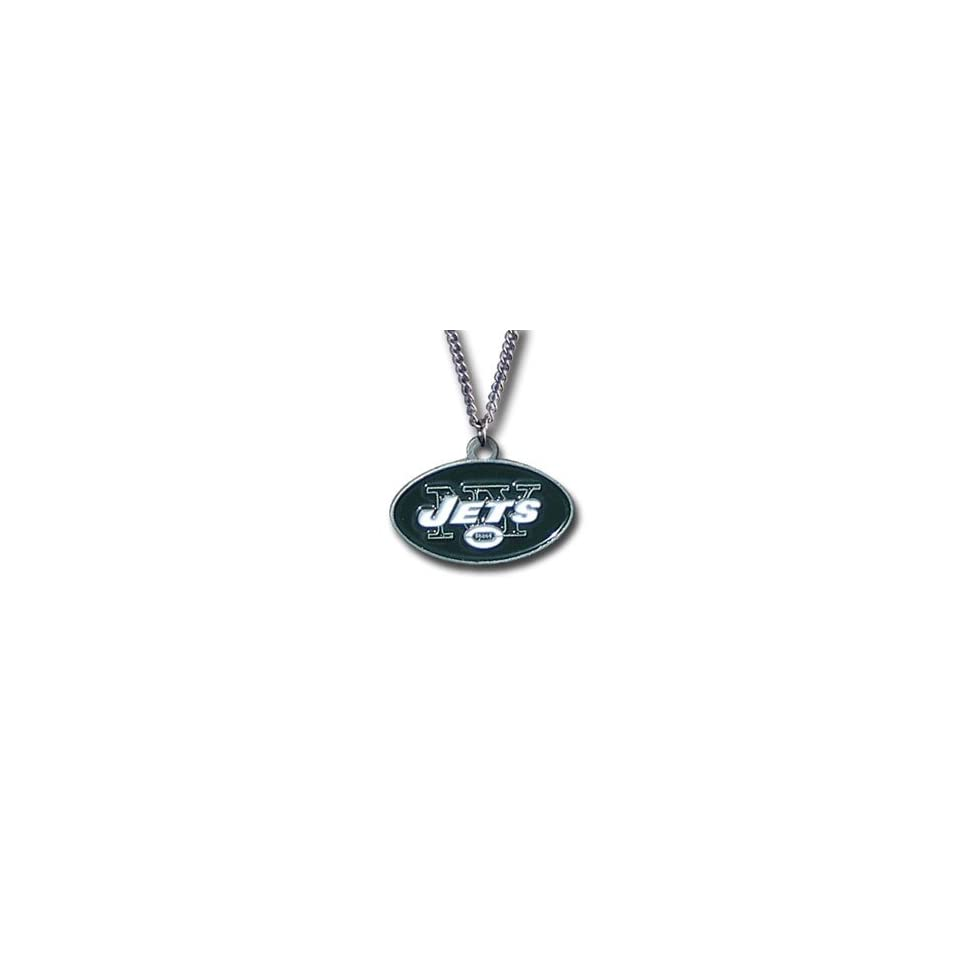 New York Jets Logo Necklace   NFL Football Fan Shop Sports Team Merchandise