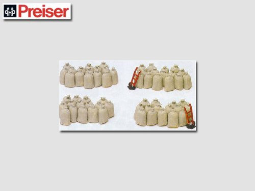CARGO SACKS - PREISER HO SCALE MODEL TRAIN ACCESSORIES 17102