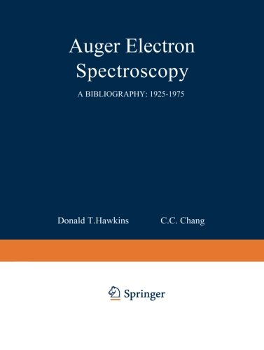 Auger Electron Spectroscopy: A Bibliography: 1925-1975