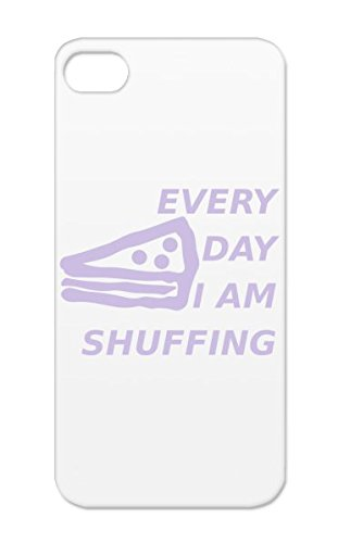 Every Day Im Shuffing Shock Absorption Silver Case For Iphone 5S Eat Cupcake Shuffing Humour Day Snack Shufflin Shuffelin Eating Pregnancy Shuffling Pizza Music Cake Shuff Humor Dance Sfuff Every Baby Family Pop Pie front-61114