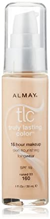 Almay TLC  Truly Lasting Color Makeup Naked 160 1-Ounce Bottle