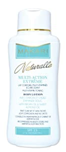 Makari Naturalle Multi-Action Extreme Lightening Multi-vitamin Toning Body Lotion Enriched with Argan and Sweet Almond Oil, SPF 15, 17.6 Fl Oz.