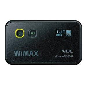 日本電気 WiMAXモバイルルータ AtermWM3800R ブラック PA-WM3800R(AT)B / NEC