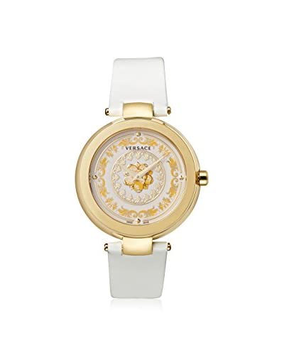 Versace Women's VQR010015 Mystique Foulard White Leather Calfskin Watch