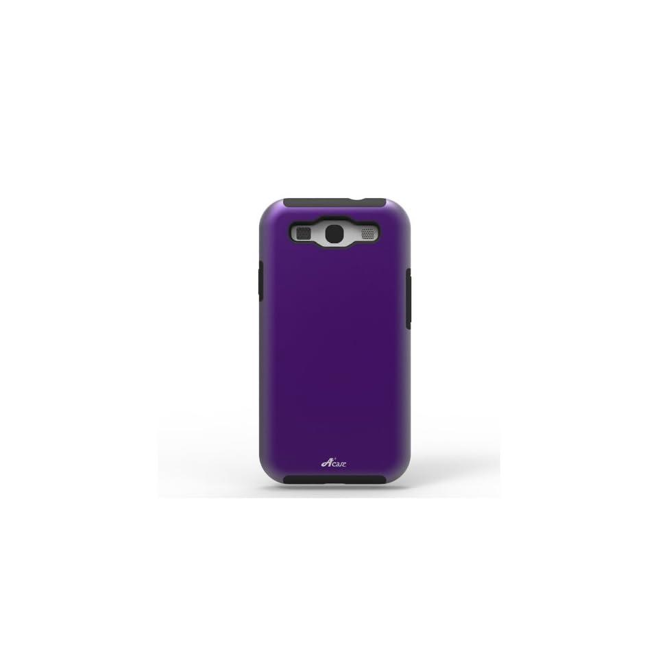 Acase ACS 01PCSLSGS3PP AS Superleggera PRO Hybrid Case for Samsung Galaxy S III   1 Pack   Retail Packaging   Purple