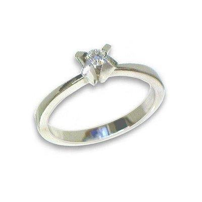 Damen Ring 9K 375 Weißgold W60 Brillant günstig