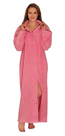 Chenille Robe Button Front 100% cotton at Amazon Women's Clothing store: