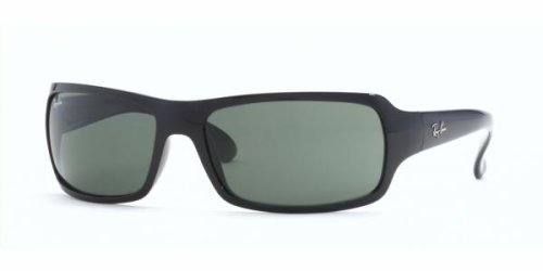 Ray Ban RB 4075 601 Glossy Black/Crystal Green Sunglasses