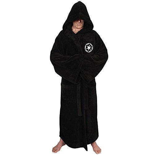 Star Wars Classic Sith Emblem Fleece Bath Robe Soft Hooded Long Sleeve
