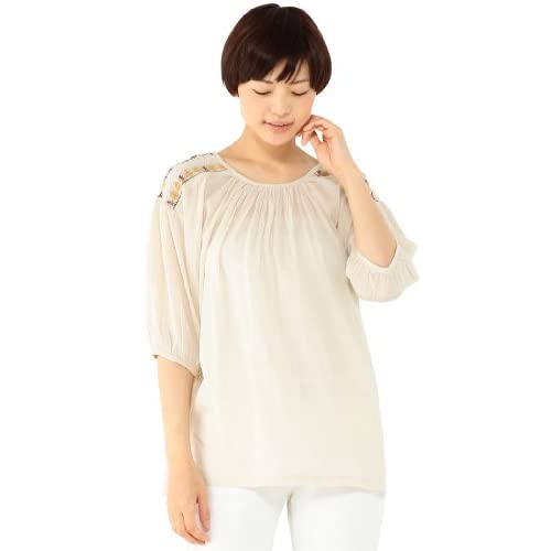 (エコマルシェ)ecomarche 肩刺繍ドルマンブラウス 846301-4 31 ベージュ L