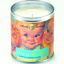 Aunt Sadie's It's a Baby Candle, Green Tea