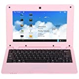 BWC SmartBook 10, 10.1 Inch Netbook with Android 4.1 (Jellybean) in Pink