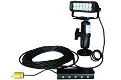Magnetic Led Light Bar On Trunnion Mount - 2 Inch Double Ball Joint Mount - 12 Leds - 200Lb Grip Ma