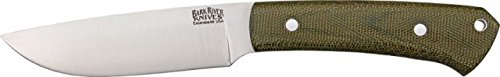 Bark River Highlander Series Fixed Blade Knife,4In,A-2 Tool Steel Blade,Green Canvas 131Mgc