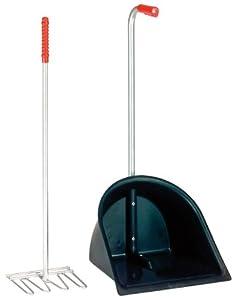 Pfiff Saubermann - Recogedor con rastrillo, color negro (schwarz) - Talla única